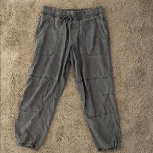 Anthropologie Cloth & Stone Gray joggers M